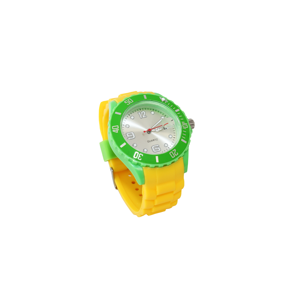 silikon armbanduhr crazy a watch damen herren trend uhr quarz uhren gelb gr n ebay. Black Bedroom Furniture Sets. Home Design Ideas